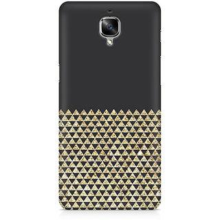 CopyCatz Golden Honeycomb Premium Printed Case For OnePlus Three
