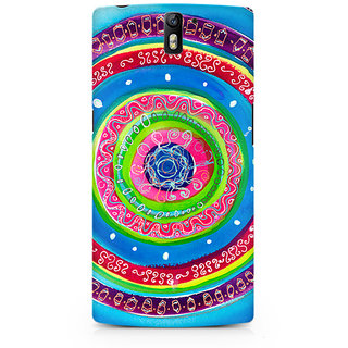 CopyCatz Concentric Circle Doodle Premium Printed Case For OnePlus One