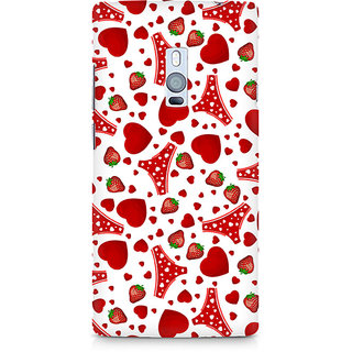 CopyCatz Panties And Strawberry Premium Printed Case For OnePlus Two