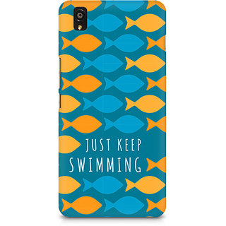 CopyCatz Just Keep Swimming Premium Printed Case For OnePlus X
