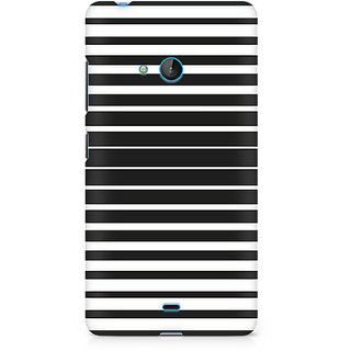 CopyCatz Black And White Stripes Premium Printed Case For Nokia Lumia 540