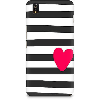 CopyCatz Cute Heart On Zebra Print Premium Printed Case For OnePlus X