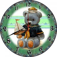 3D TEDDY WITH SHIP WALL CLOCK