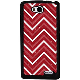 Ayaashii Zigzag Pattern Back Case Cover for LG L90