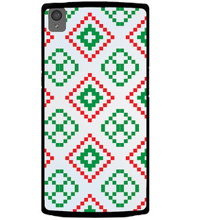 Ayaashii Red Green Logo Pattern Back Case Cover for One Plus X::One + X