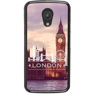 Ayaashii London Tower Back Case Cover for Motorola Moto G2 X1068::Motorola Moto G (2nd Gen)