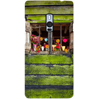 Ayaashii Wooden Window Back Case Cover for One Plus Two::One Plus 2::One+2