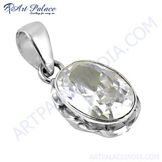 Hot Sale Fashion Gemstone Cubic Zirconia Silver Pendant