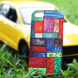 Designer Funky Color Grille Hard Back Cover / Case For Iphone 5 / 5S