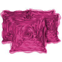 ROSE CUSHION COVER PURPLE 5 PCS SET (30 X 30 CMS)