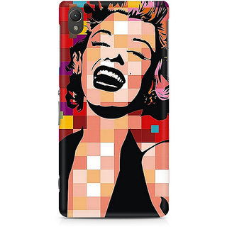 CopyCatz Red On Black And White Premium Printed Case For Sony Xperia Z5 Dual