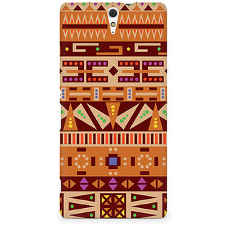 CopyCatz Tribal Alphabets Premium Printed Case For Sony Xperia C5