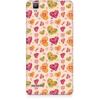 CopyCatz Cute Pink Hearts Premium Printed Case For Oppo F1 Plus