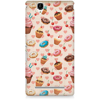 CopyCatz Watercolor Hearts Premium Printed Case For Sony Xperia T2