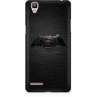 CopyCatz Batman Vs Superman Logo Premium Printed Case For Oppo F1 Plus