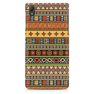 CopyCatz Orange Tribal Strips Premium Printed Case For Sony Xperia Z2 L50W