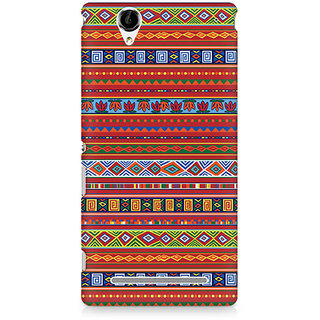 CopyCatz Brown Ribbon Premium Printed Case For Sony Xperia T2