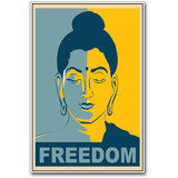 Budha Freedom Poster By Artifa (PS0511)