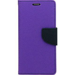 FANCY DIARY FLIP COVER SILICONE CASE For Nokia Lumia 720 PURPLE
