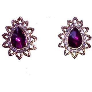Fashionable Purple  Golden Drop earrings for women  girls by shrungarika ( e-360)