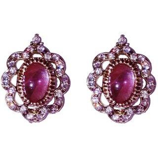 Fashionable pink Stud earrings for women  girls by shrungarika ( E-354 )