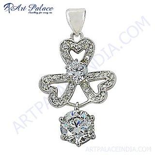 Creative Stylish Cubic Zirconia Gemstone Silver Pendant