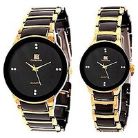 True Choice Iik Stylish Couple Watch Gold For All