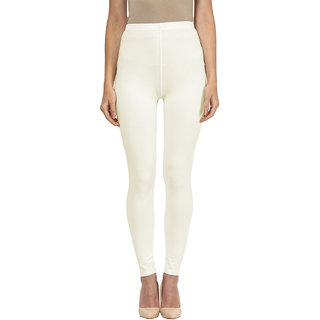 Sakhi Sang Solid Cream Ankle Leggings