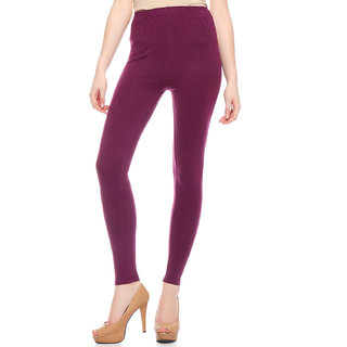 Sakhi Sang Solid Violet Ankle Leggings