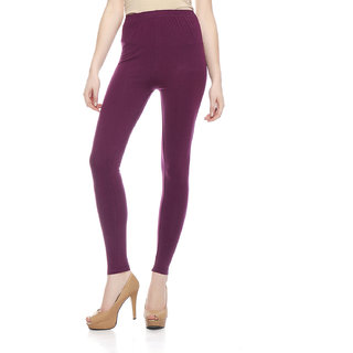 Sakhi Sang Solid Wine Ankle Leggings