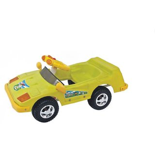 ehomekart green sports push and pedal car for kids