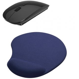 2.4Ghz Trabite Slim Wireless Mouse  Mousepad Combo(BLACK)