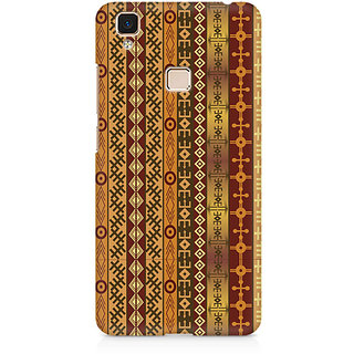 CopyCatz Ethnic Pattern Abstract Premium Printed Case For Vivo V3 Max