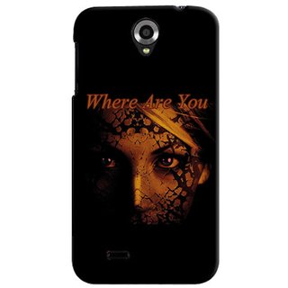 Snooky Black Back Cover For Lenovo A820