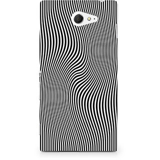 CopyCatz Concentric Squares Premium Printed Case For Sony Xperia M2 S50h