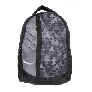 Justcraft Galaxy Black and Tkn Grey Backpack