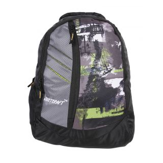 Justcraft Galaxy Black and Wld Green Backpack