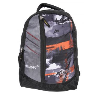 Justcraft Galaxy Black and Wld Orange Backpack