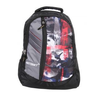 Justcraft Galaxy Black and Wld Red Backpack