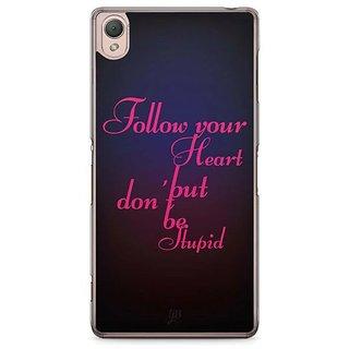 YuBingo Follow Your Heart Designer Mobile Case Back Cover For Sony Xperia Z3