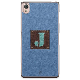 YuBingo Monogram With Beautifully Written Jeans And Macho Male Leather Finish Letter J Designer Mobile Case Back Cover For Sony Xperia Z3