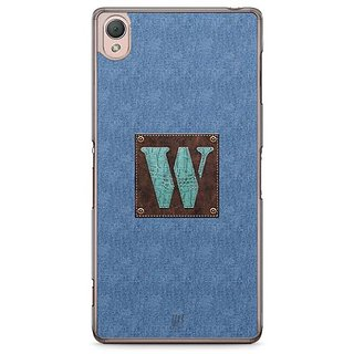 YuBingo Monogram With Beautifully Written Jeans And Macho Male Leather Finish Letter W Designer Mobile Case Back Cover For Sony Xperia Z3