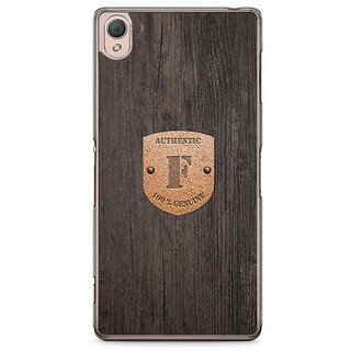 YuBingo Monogram With Beautifully Written Wooden And Metal (Plastic) Finish Letter F Designer Mobile Case Back Cover For Sony Xperia Z3