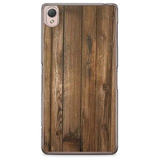 YuBingo Wood Finish (Plastic) Designer Mobile Case Back Cover For Sony Xperia Z3