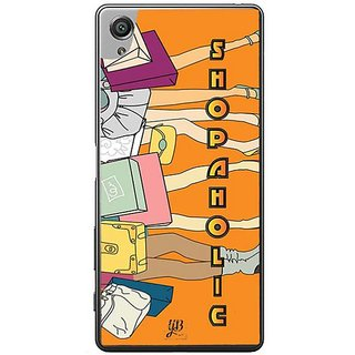 YuBingo Shopaholic Designer Mobile Case Back Cover For Sony Xperia XA