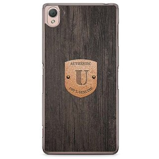 YuBingo Monogram With Beautifully Written Wooden And Metal (Plastic) Finish Letter U Designer Mobile Case Back Cover For Sony Xperia Z3