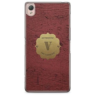YuBingo Monogram With Beautifully Written Wooden And Metal (Plastic) Finish Letter V Designer Mobile Case Back Cover For Sony Xperia Z3