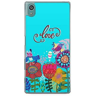 YuBingo Love And Flowers Designer Mobile Case Back Cover For Sony Xperia Z5