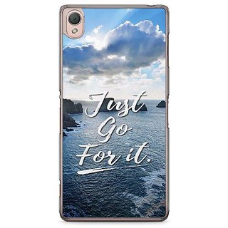 YuBingo Just Go For It Designer Mobile Case Back Cover For Sony Xperia Z3