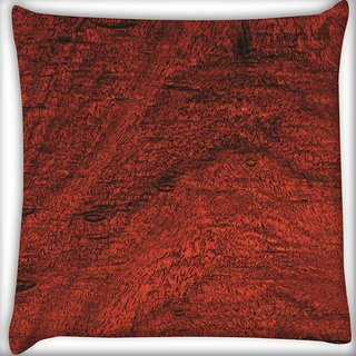 Snoogg Abstract Wood Color Digitally Printed Cushion Cover Pillow 18 x 18 Inch